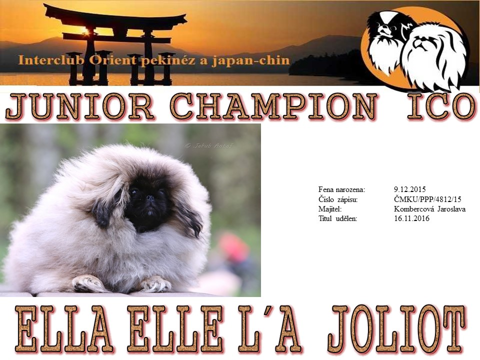 Junior Champion ICO - Ella Elle l´A Joliot