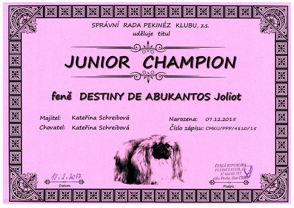 Junior Champion Pekinéz Klub