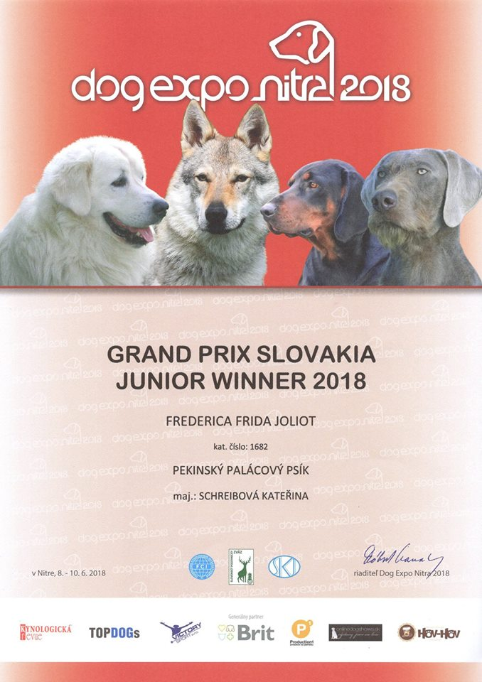 Grand Prix Slovakia Junior Winner - Frederica Frida Joliot